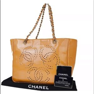CHANEL Bag Patent Leather